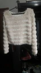 Título do anúncio: Casaco de frio  de pelo branco