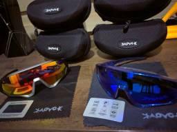 Título do anúncio: Óculos de Ciclismo Kapvoe com 5 lentes / Polarizado / Proteção uv400