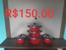 Kit Com 5 Caçarola T/ Vidro R$150.00