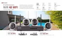 Título do anúncio: Kit De Monitoramento WiFi + 4 Câmeras Hikvision Com Hd