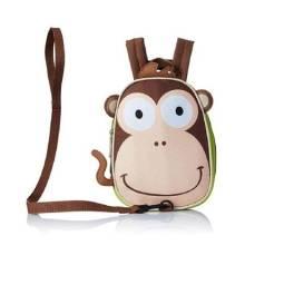 Lancheira infantil c/ alça p/ passeio animal macaco zoo