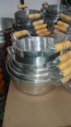 Jogo panela alumínio batido 5 peças