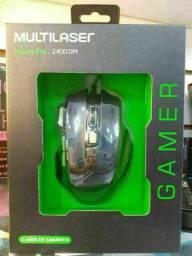 MOUSE GAMER MULTILASER 2400DPI.