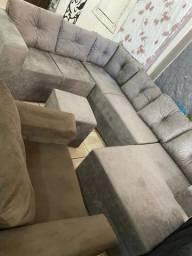 belíssimo sofá de canto com chaise longue (entrega grátis)