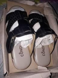 Sandália ortopedica de couro legítimo