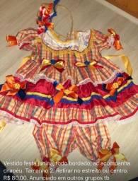 Vestido festa junina infantil