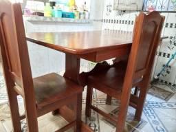 Mesa 4 cadeiras cumaru