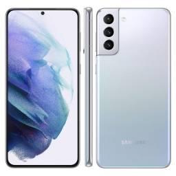Smartphone Samsung galaxy S21+ 5G prata 256gb, 8GB ram