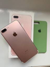 iPhone 7 Plus Rosê e Prata