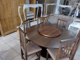 Título do anúncio: Mesas de madeira com 6 cadeiras fábrica facosta móveis só 10 x 298,00