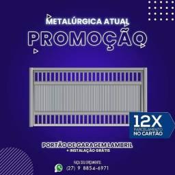 Título do anúncio: PORTÕES DE GARAGEM E SOCIAL - GRADES E ETC