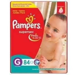 136 Fraldas PAMPERS Supersec Tamanho G