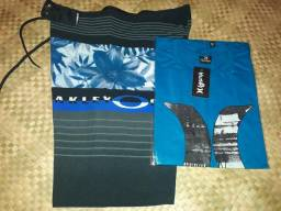 Bermuda elastano e camisa