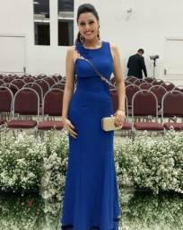 Vestido De Festa Longo Azul Royal