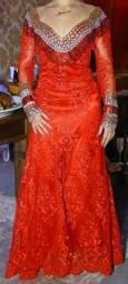 Vestido formanda,madrinhas (vermelho-tam M)