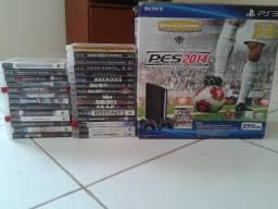 Playstation 3 Super Slim 29 Jogos Na na Caixa
