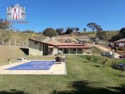 Chácara maravilhosa, casa nova, escritura, 03 quartos, piscina e linda vista