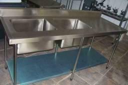 Bancadas de inox, mesa de inox sobre medida *