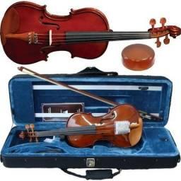 Violino Eagle Ve441 4/4 + Case + Arco + Breu + Garantia NF Somos Loja
