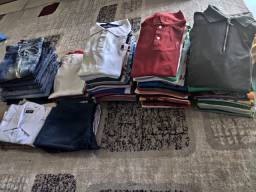 Lote de roupas masculino cada peça sai a 7.00