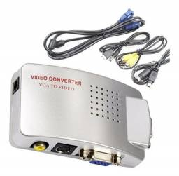 Conversor Adaptador Vga Para Rca E S-vídeo Pc Tv