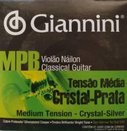 Encordoamento violão MPB Tensão Média