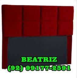 cabeceira móvel solteira vermelha e preta
