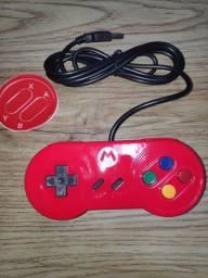 Controle SNES USB Super Mario