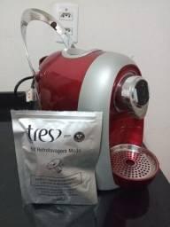 Máquina de café espresso TRÊS corações modo s04 multibebidas VERMELHA