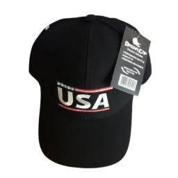 Título do anúncio: Boné Bordado USA Unissex Furadinho Aba Curva Regulagem Em Velcro Novo