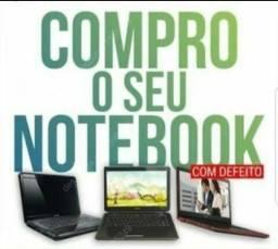 C0mpro notebook Quebrado ou com defeito