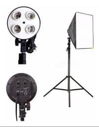 Título do anúncio: Kit De Luz contínua com Softbox Para Estúdio Fotográfico E Video youtuber etc