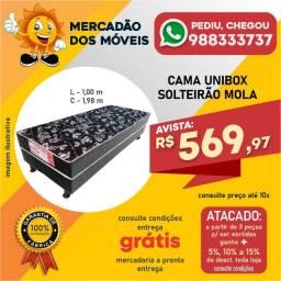 Cama Unibox Solteirão Mola (Entrega Grátis)