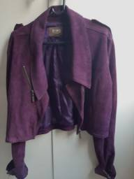Jaqueta camurça beterraba
