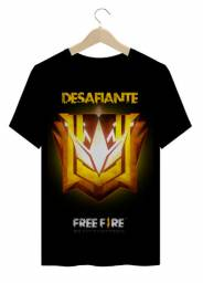 Free fire camisa adulto desafiante