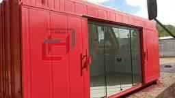 Ponto comercial em container com isolamento térmico 15m²