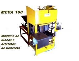 Maquina para fabricação de blocos e artefatos de concreto Meca 100