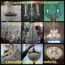 Lustres antigos de cristal