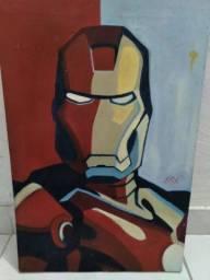 Pintura a óleo do Homem de Ferro