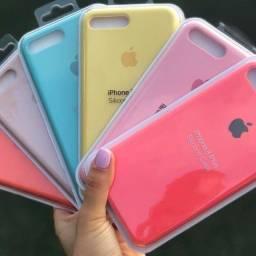 Capinha Iphone Silicone P/ 7Plus, 8 Plus , 8 , 7 , Se 2020 e Iphone 11