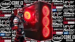 PC Gamer><i3-10105F + Radeon RX 550 4GB><Novo c/ Garantia!