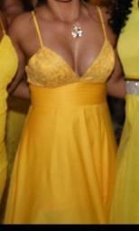 Título do anúncio: Vestido Madrinha/ Formatura Amarelo