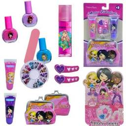 Kit Maquiagem Infantil Manicure Gloss Sombra Completo Estojo Promoção