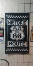 Bandeira / Flâmula / Faixa com tema Rota 66 / Route 66