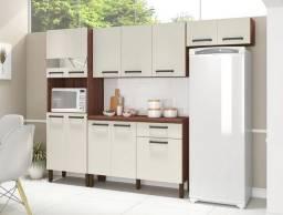 Cozinha Compacta Versalhes 4 peças com Balcão e tampo em MDF - Entrega Imediata!