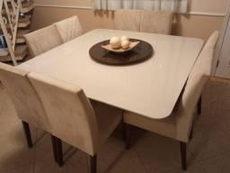 Título do anúncio: Mesa de Jantar 1,5 x 1,5 8 Cadeiras