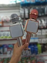 Microfone com caxinha de som acoplada, via Bluetooth  r$150,00 cada. ENTREGO