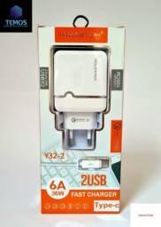 PROMOÇÃO DE CARREGADORES TURBO , IPHONE , TIPO C ,V8(MICRO USB) , ENTREGA GRÁTIS