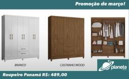 Guarda roupa Panamá promoção