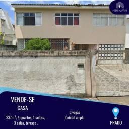 Oportundidade! Casa Duplex, 337m², 4 Qts, 3 vagas de garagem no Prado.